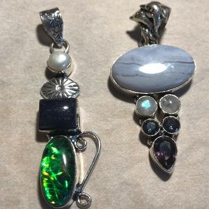 Jewelry - Two stone pendants set in 925 sterling silver